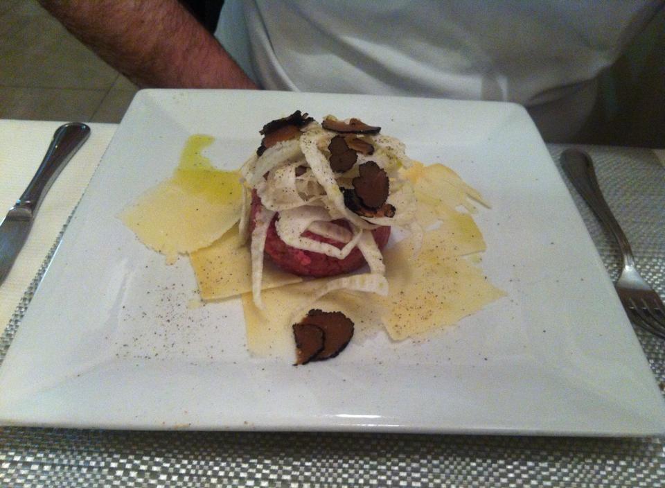Tartare da Stefano ristorante italiano a Cannes di #viaggiareapois