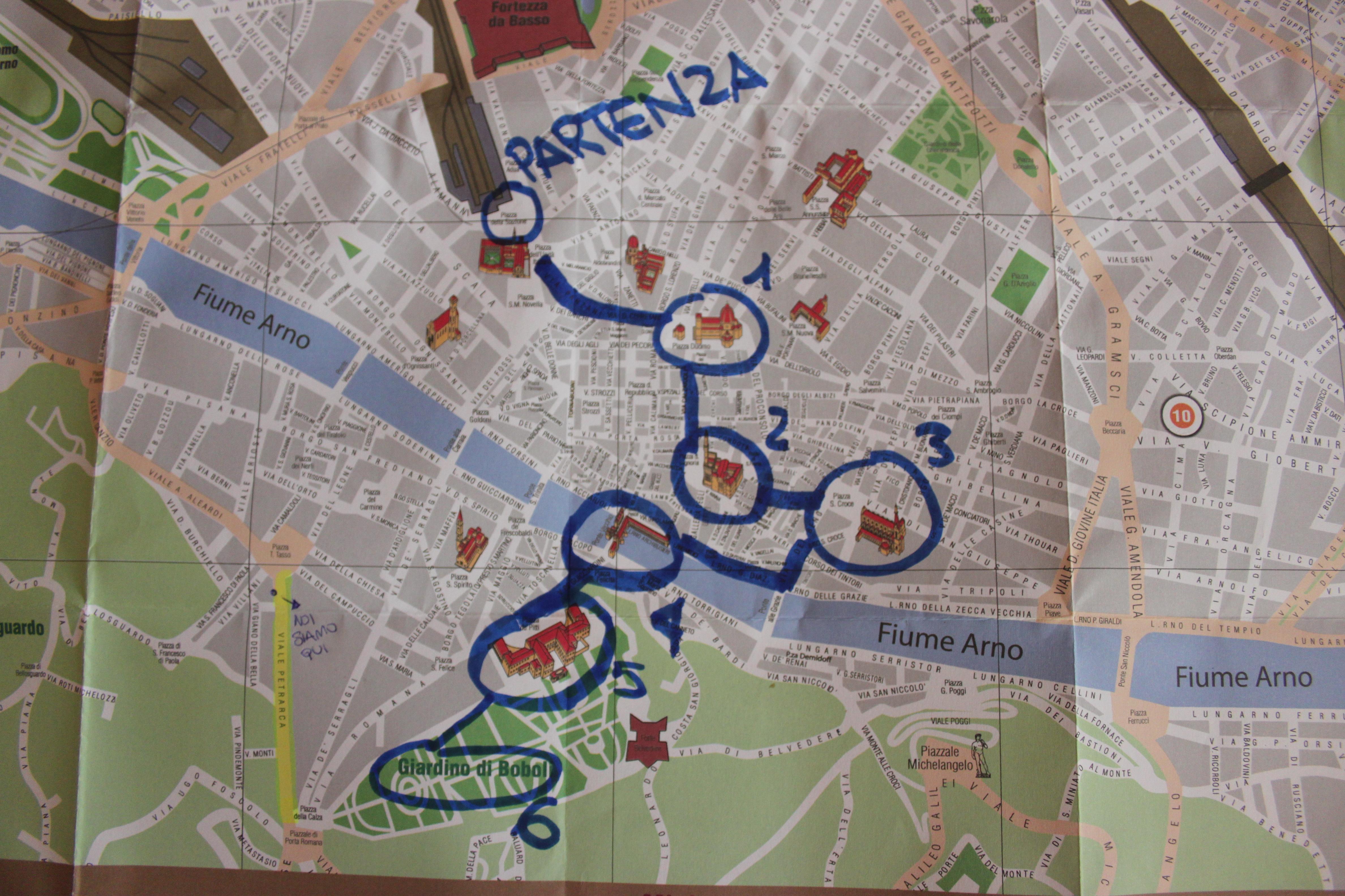 mappa di Firenze di #viaggiareapois