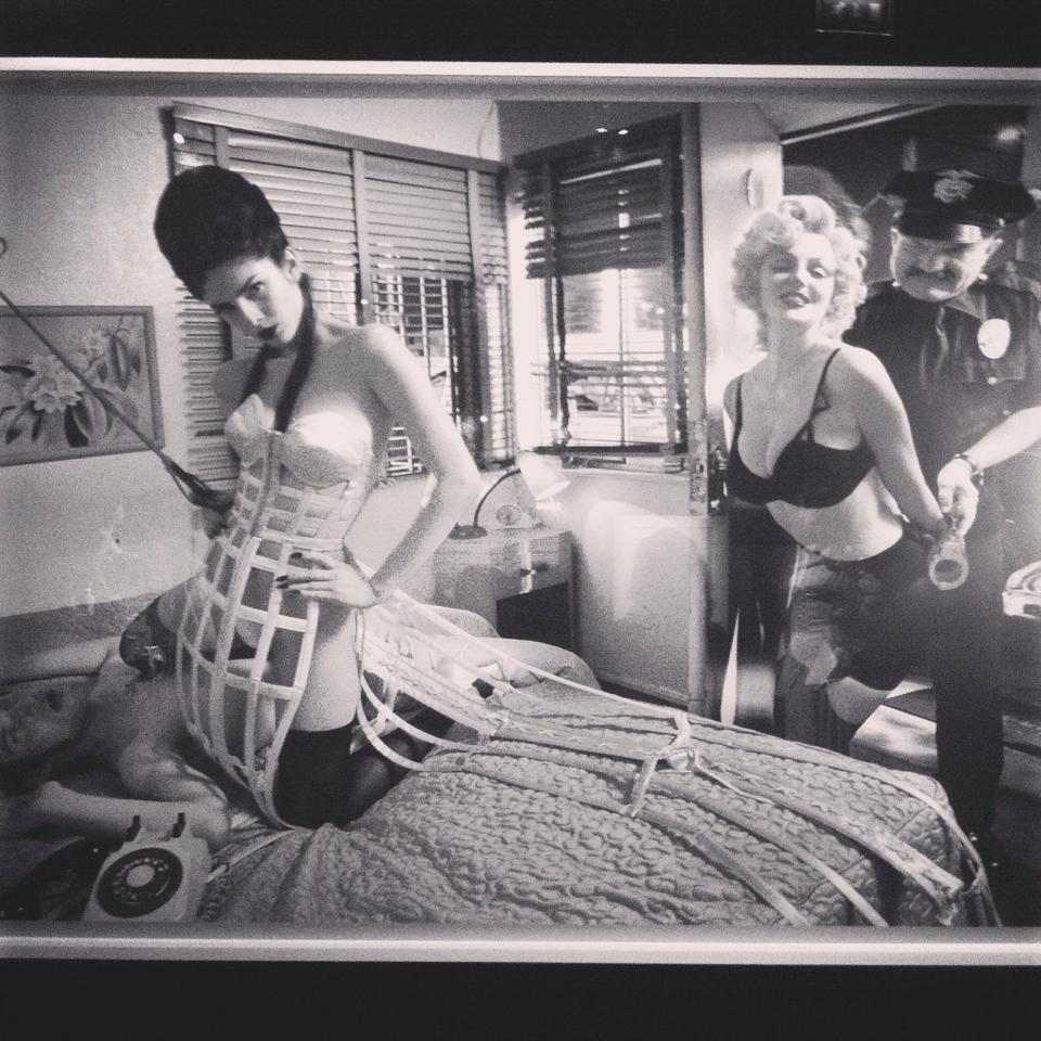 Marilyn mostra Jean Paul Gualtier di #viaggiareapois