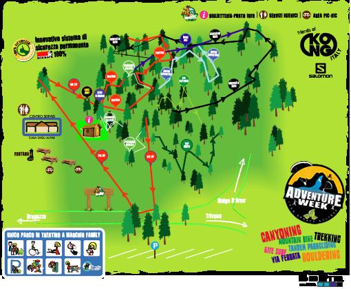 mappa percorsi breg adventure park di #viaggiarepois