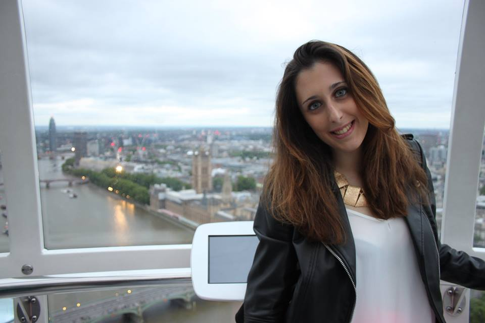 Sara su London Eye di #viaggiareapois