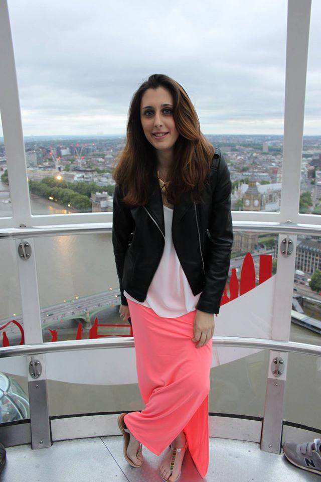Sara su Coca Cola London Eye di #viaggiareapois