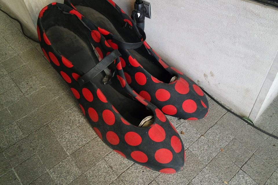 scarpe pois al museo flamenco di #viaggiareapois