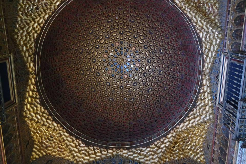 soffito oro palazzo di alcazar di #viaggiareapois