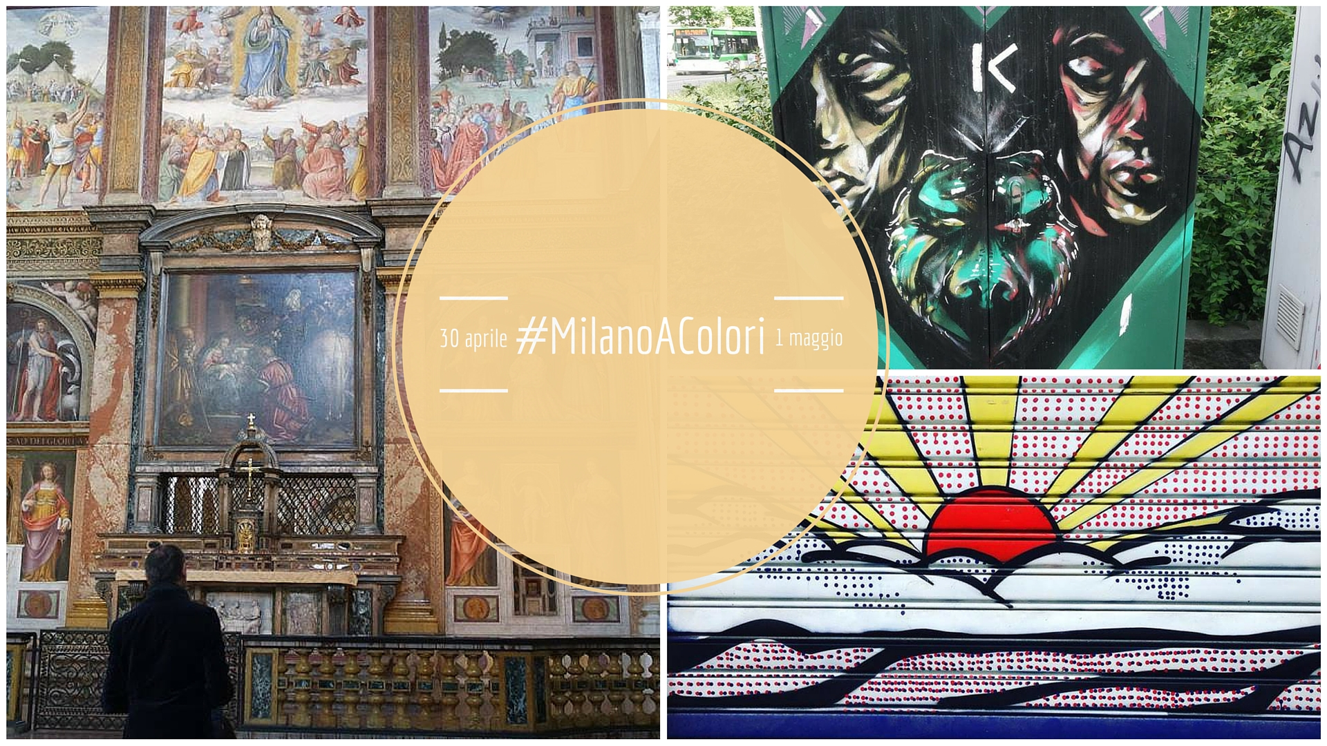 #MilanoAColori :Tra pittura rinascimentale e arte contemporanea