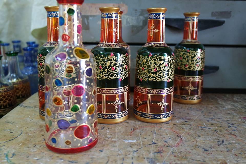 bottiglia a pois dipinta #viaggiareapois
